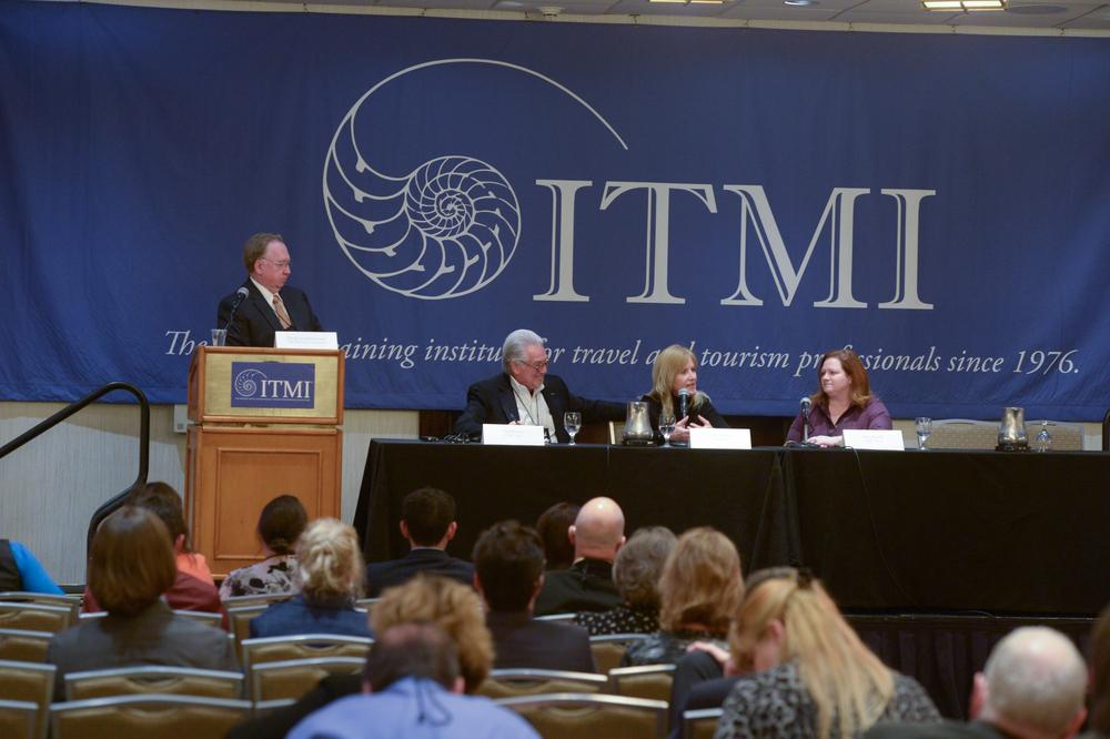 Doug Quakenbush (left) moderating Ask the ITMI Home Team at ITMI Symposium 2016