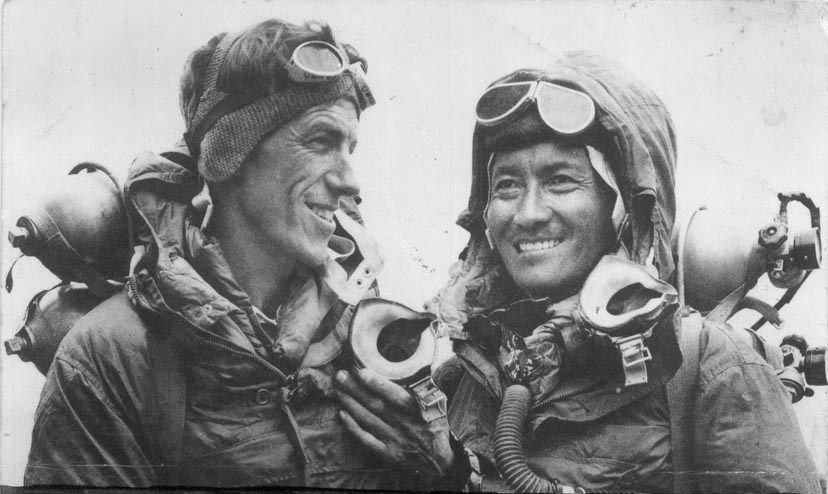 Tenzing Norgay (R) with Edmund Hillary, 1953 (Jamling Tenzing Norgay)