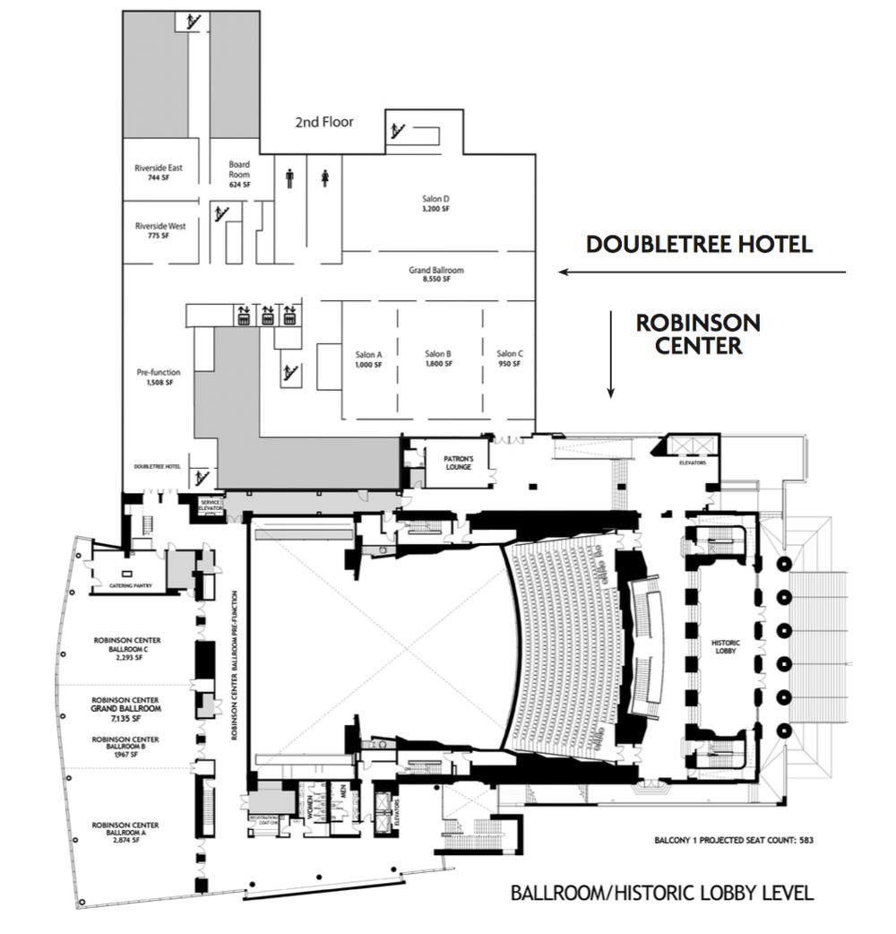DoubleTree Salons & Riversides • Robinson Center Ballrooms & Lobby