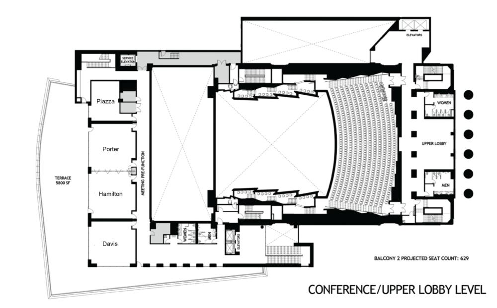 Robinson Center Upper Level Porter / Hamilton / Davis