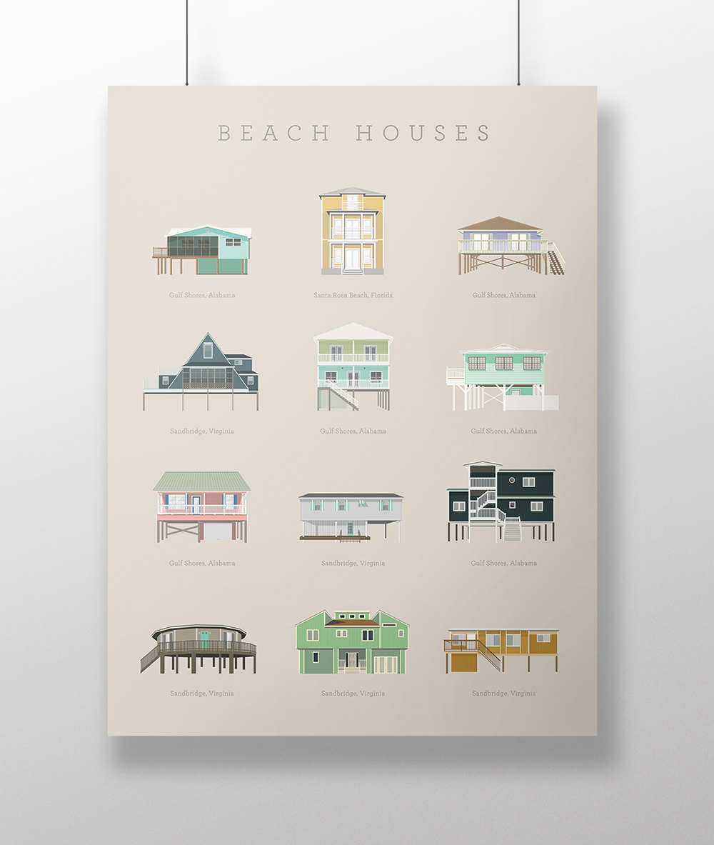 Carrie A Donovan beach house poster