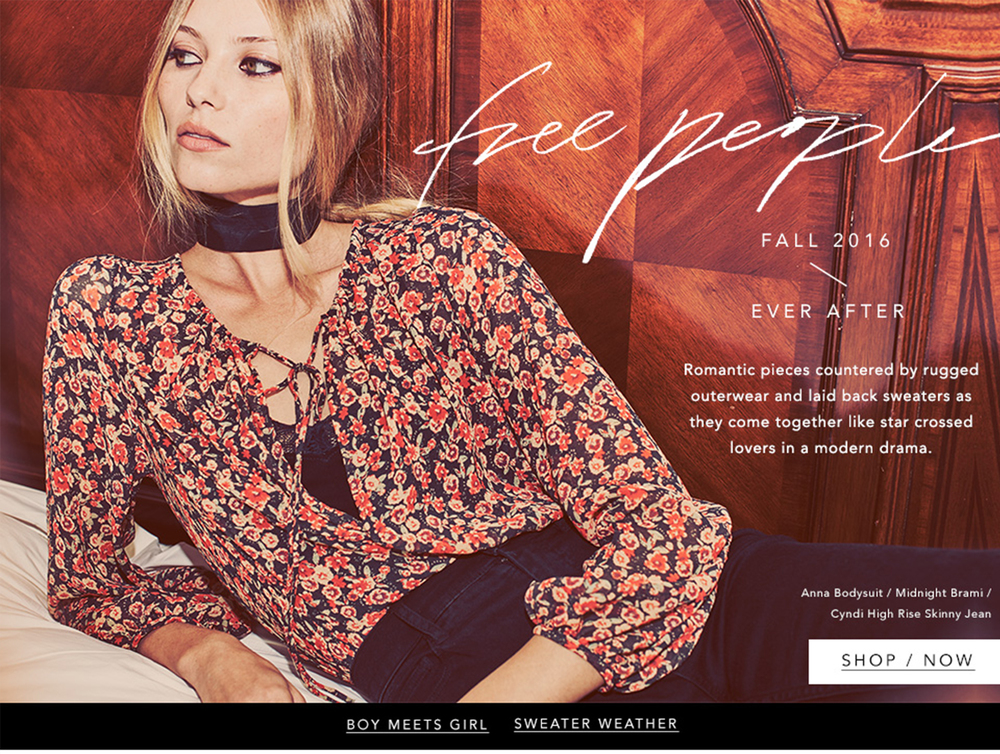 Free People x Bloomingdales  Fall Lookbook