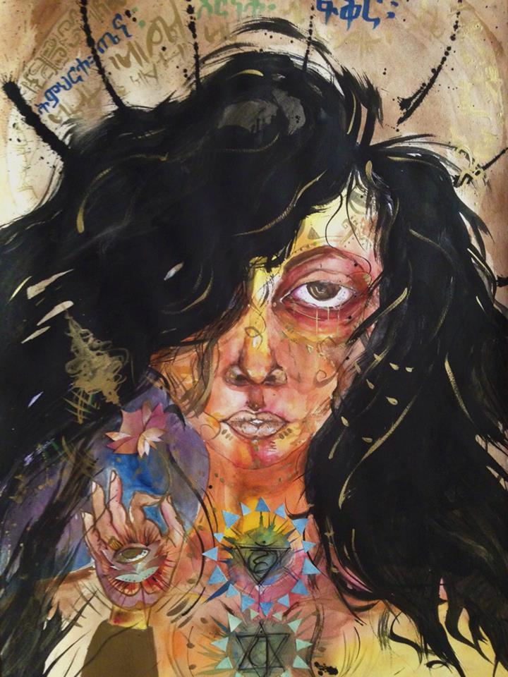 The Beginning. 2014 Watercolor & Ink.
