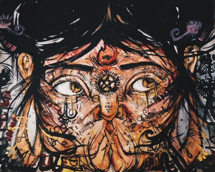 Matrix. Watercolor, Ink. 2015. SOLD.