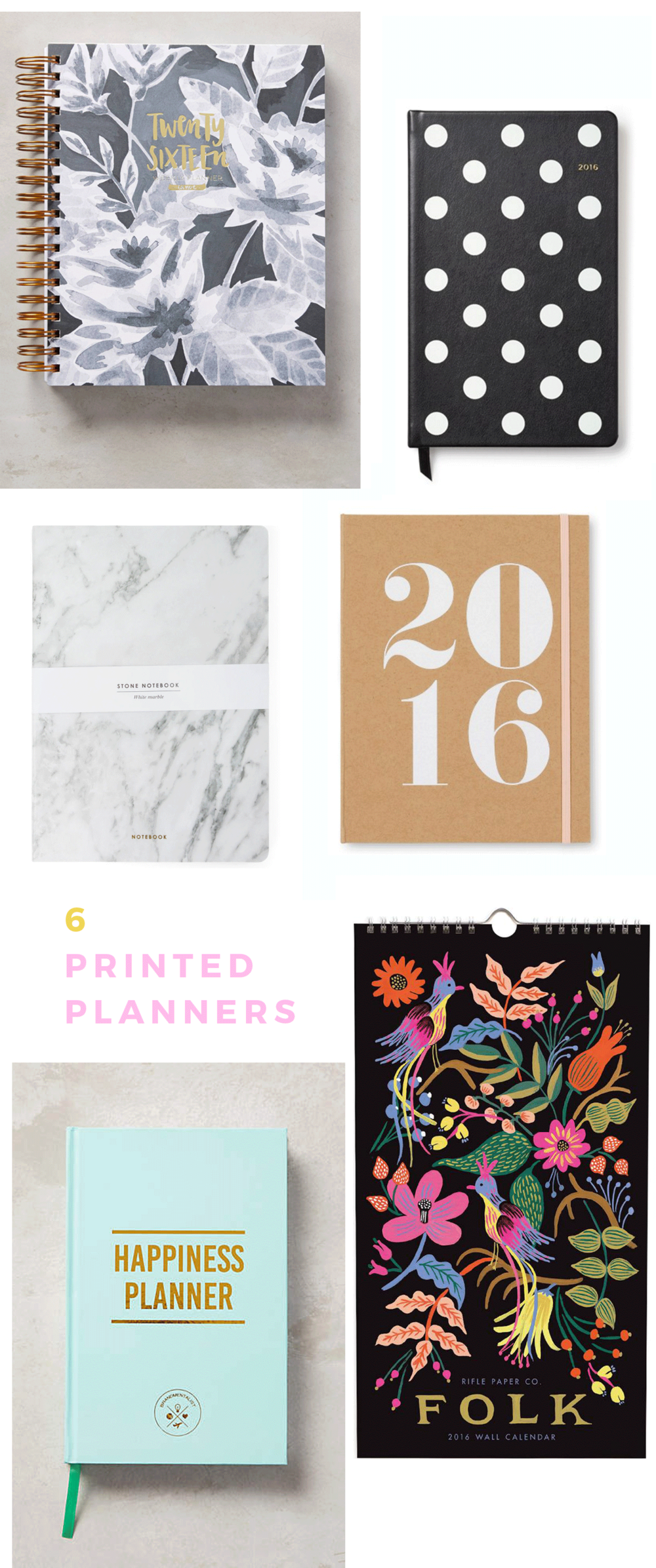 cute planners and calendars for 2016