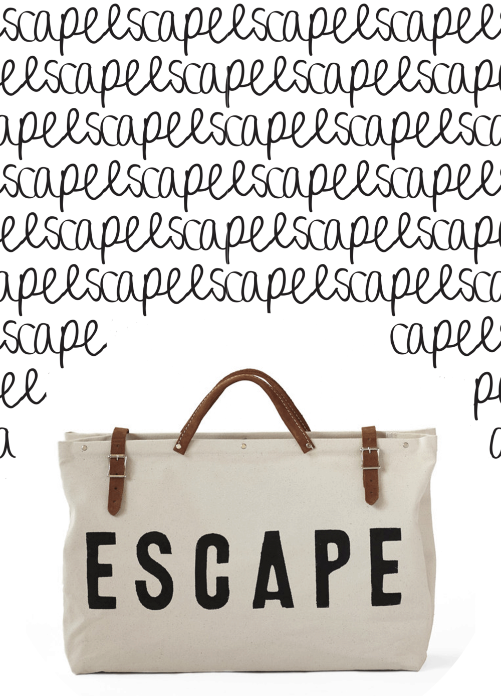 escape canvas bag / words for the new year | @themissprints