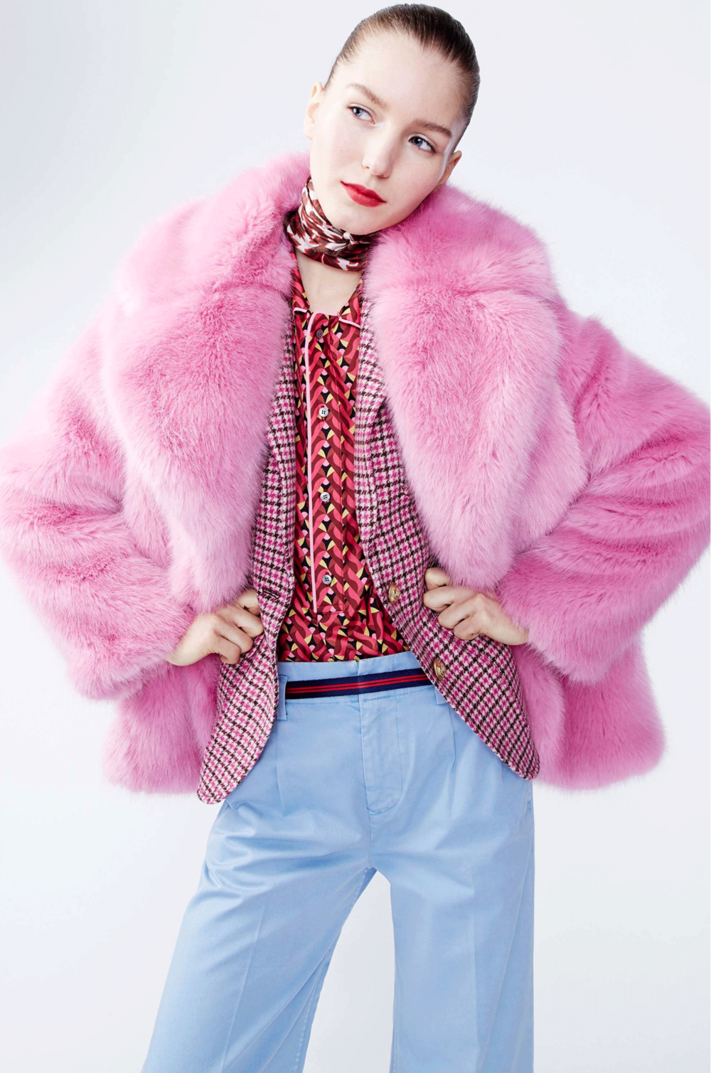 THE COLLECTION WITH THE BUBBLEGUM PINK FAUX FUR JACKET — MISS PRINTS