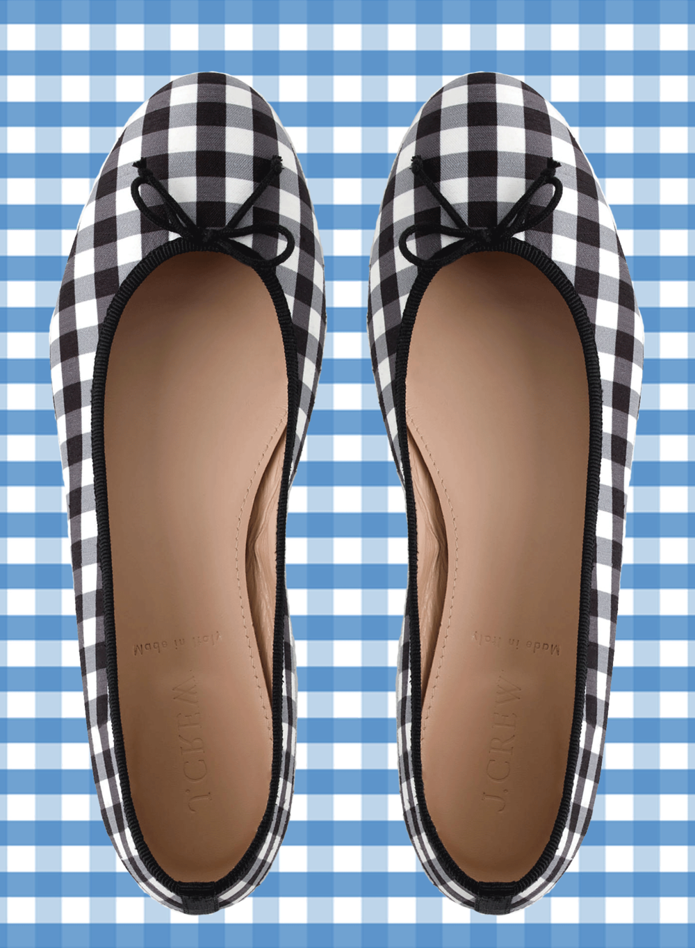 jcrew gingham ballet flats | @themissprints