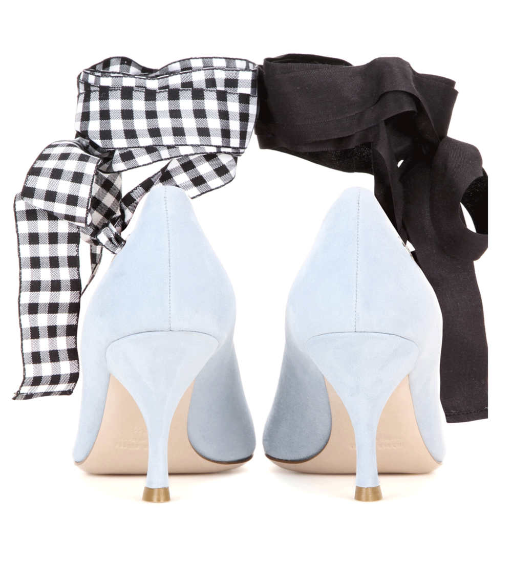 miu miu gingham pumps | @themissprints