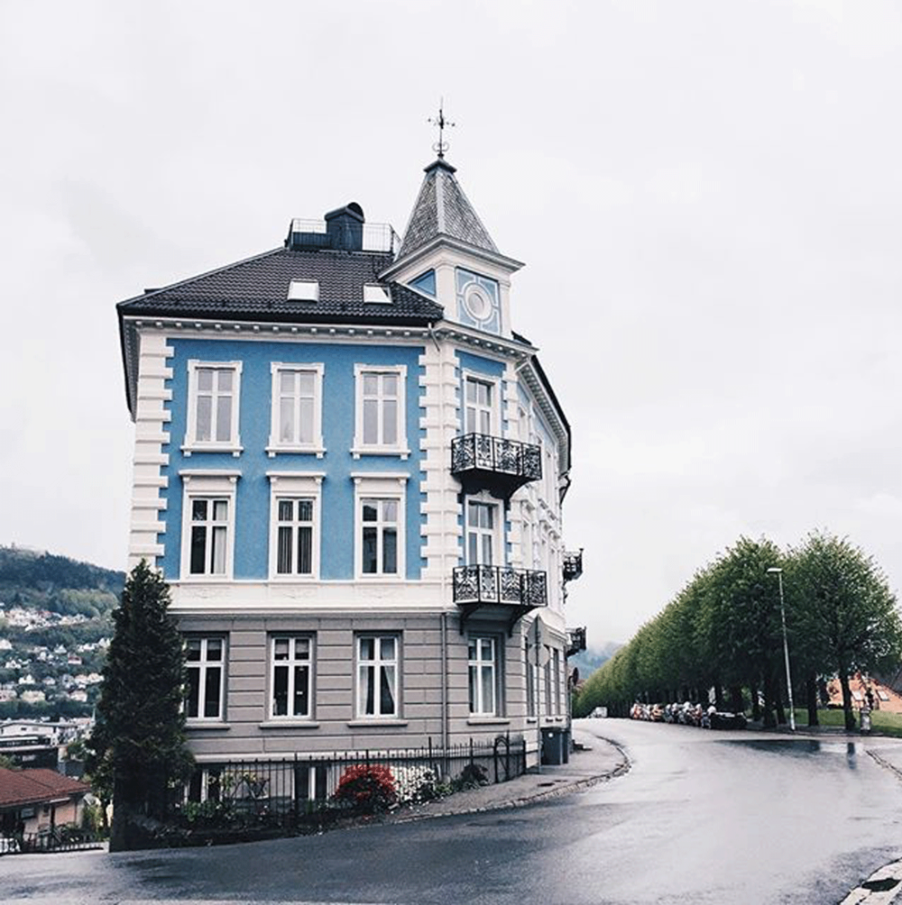 fairytale houses in  Bergen, Norway