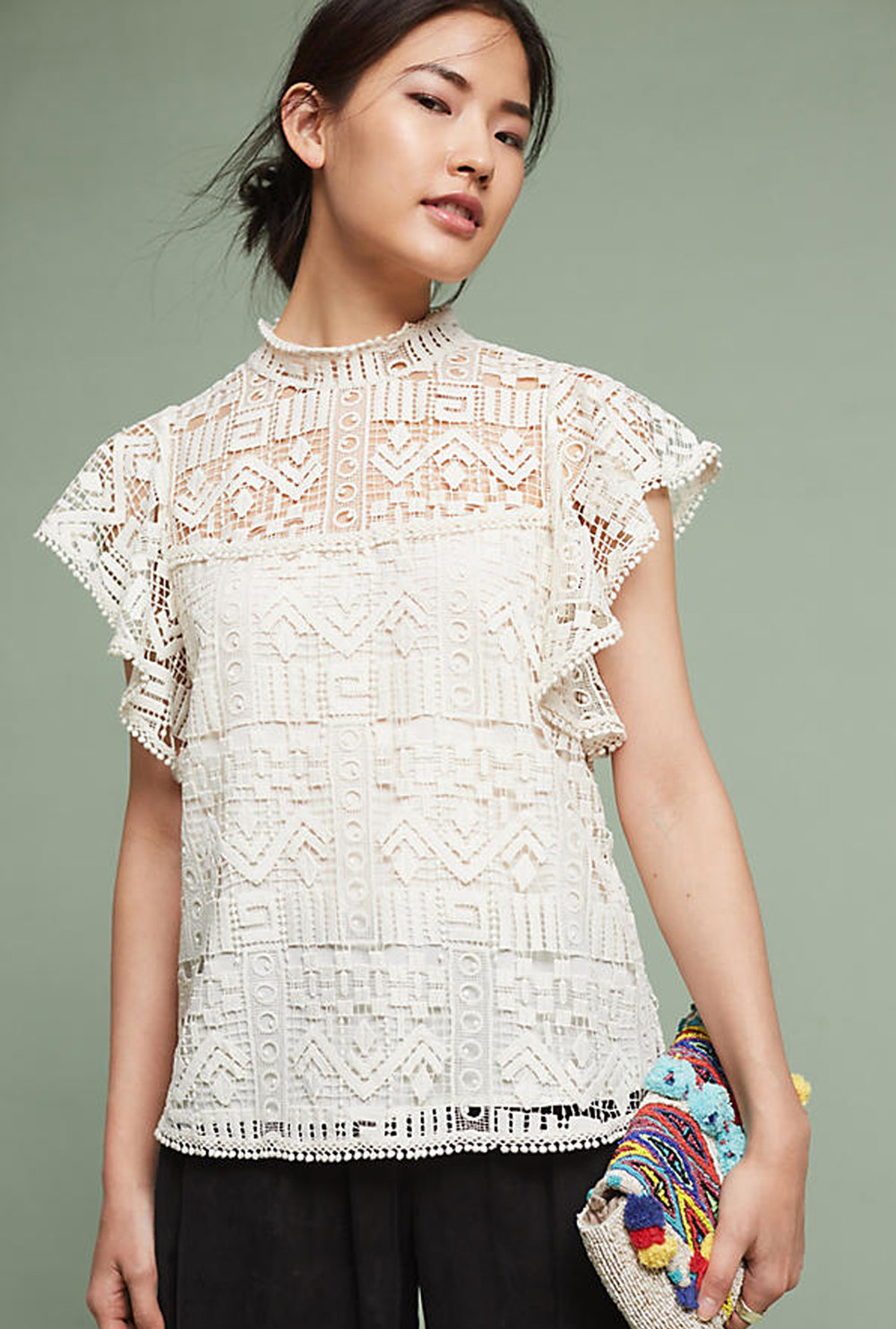 lace top from anthropologie | @themissprints