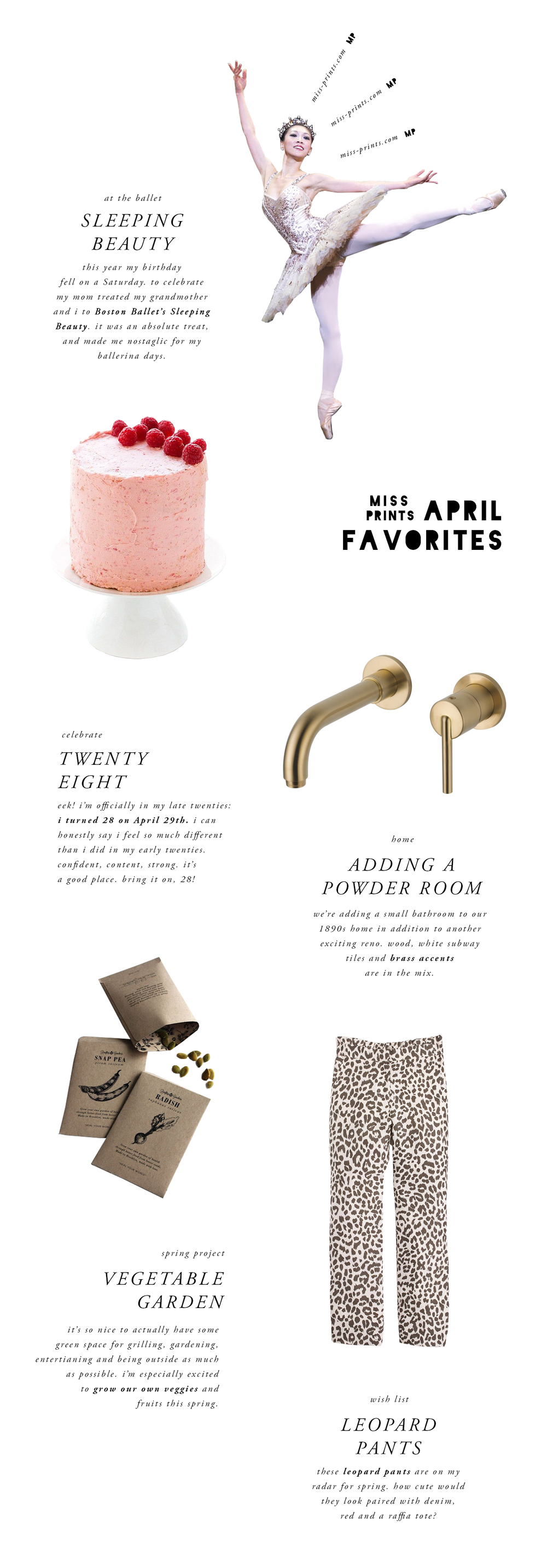 april favorites | @themissprints