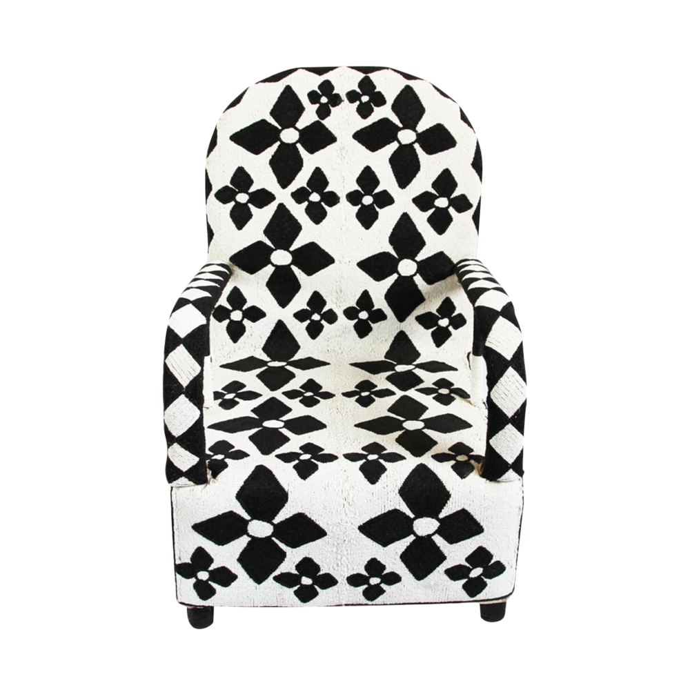 An incredible beaded armchair from Yoruba, Nigeria