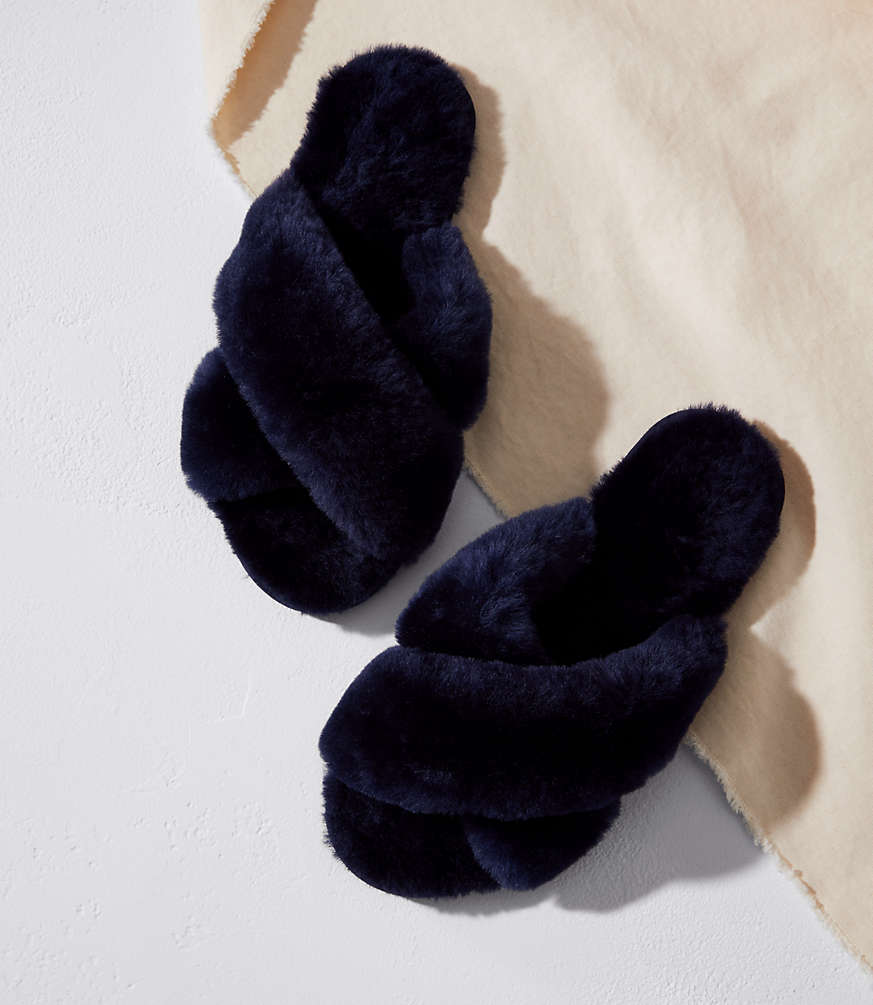 EMU NAVY SLIPPERS