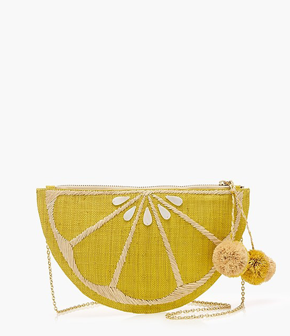 lemon purse from jcrew | @themissprints