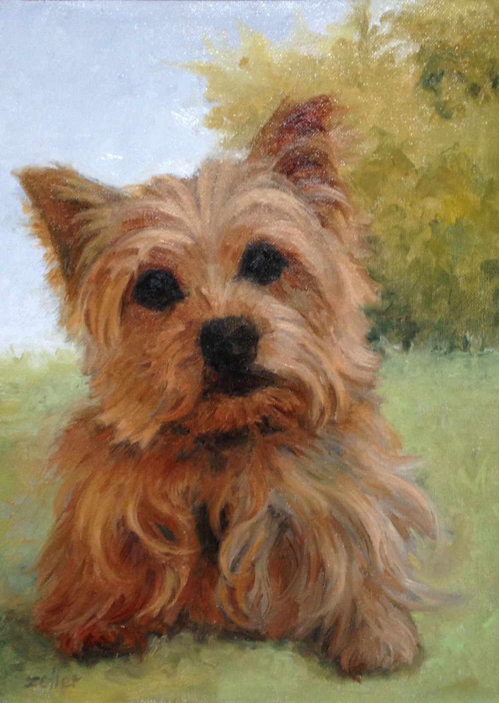 "Raisin, 8"" X 6,"" oil on panel"