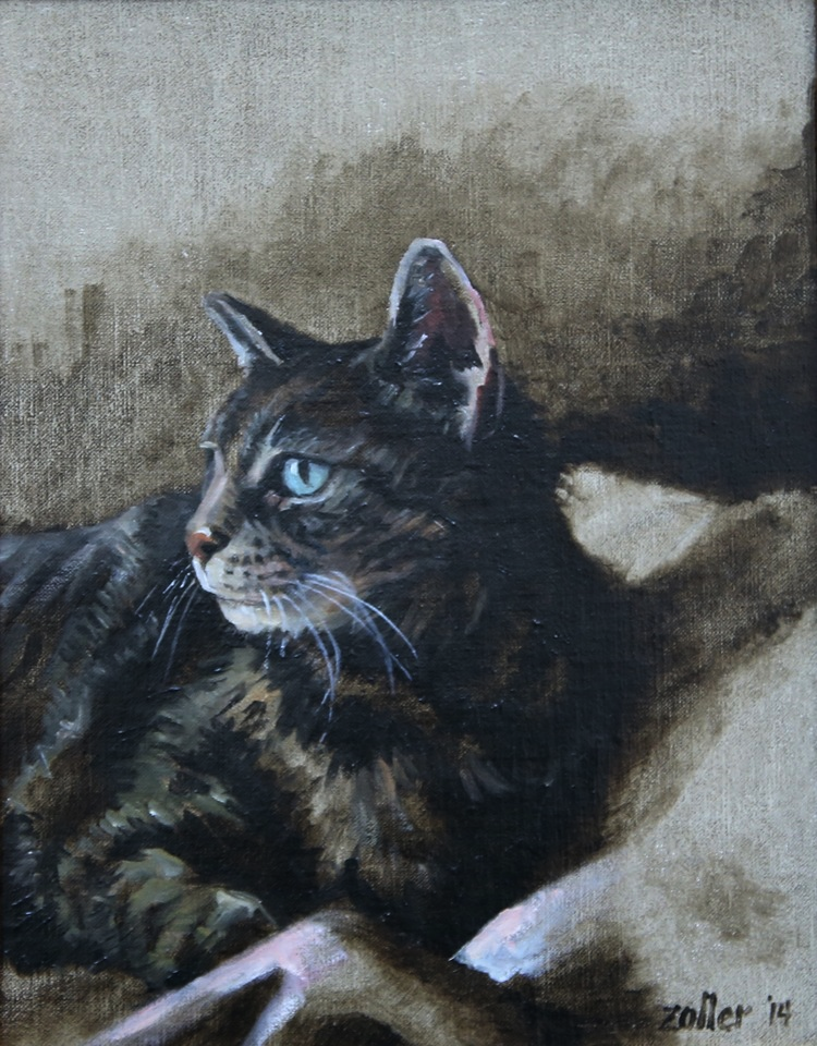 "Katie, 10"" X 8,"" oil on Belgian linen on panel"