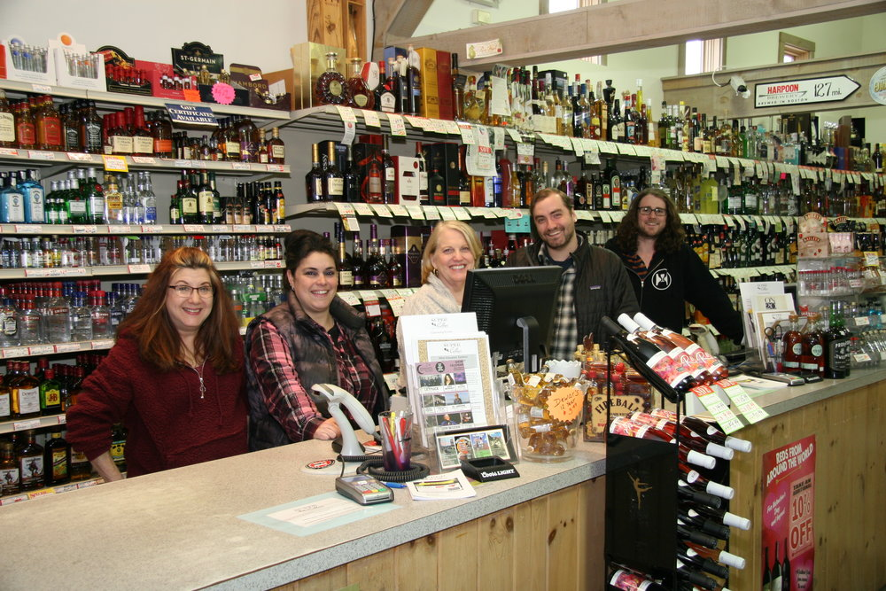 (Pictured: Our world-class team of beverage enthusiasts! L-R Wendy, Tina, Kerry, Tyler, & Lucas.)