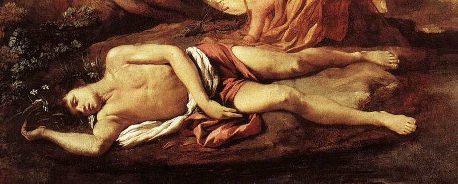 "detail from ""Echo and Narcissus"" by Poussin (1628-30)"