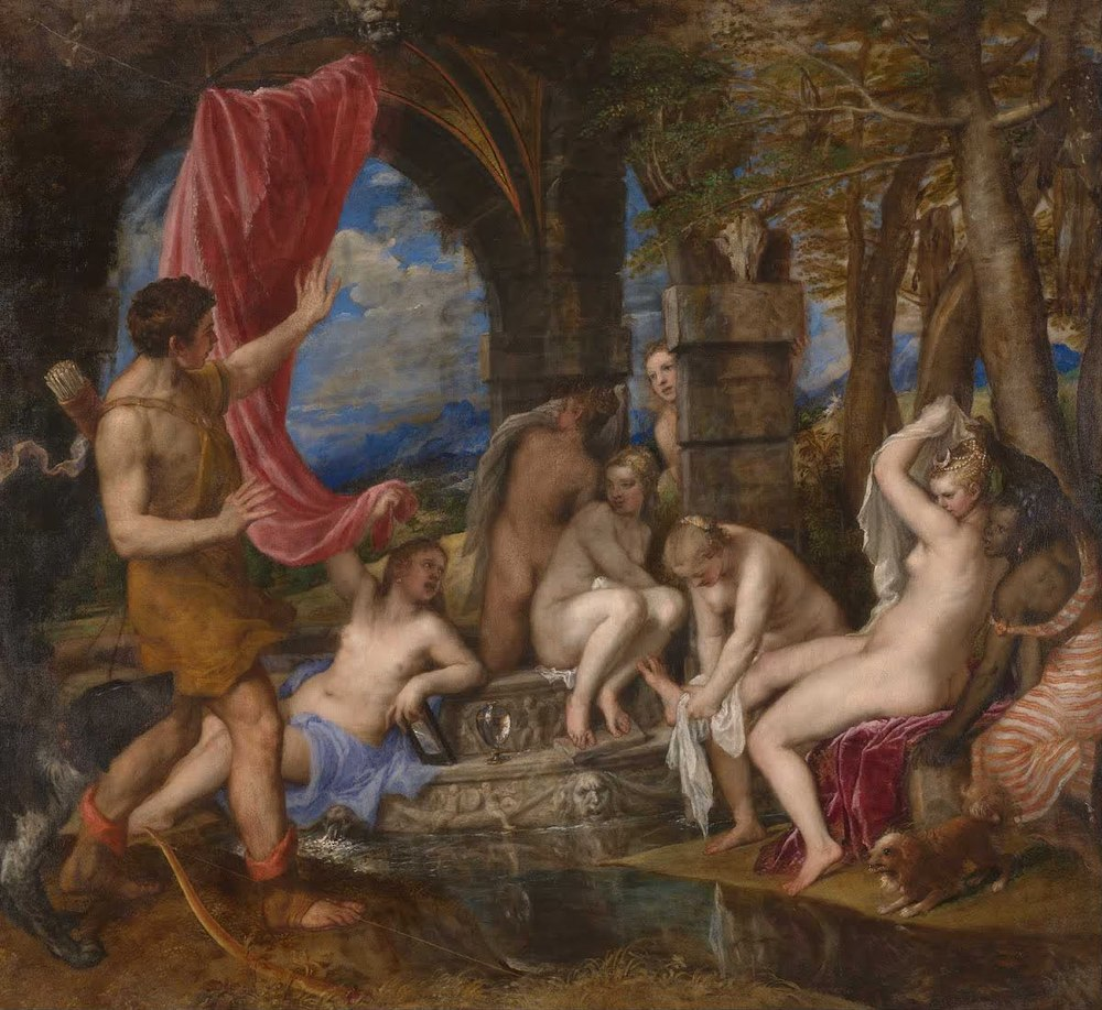 """""""Diana and Actaeon"""" by Titian, 1556-1559"""