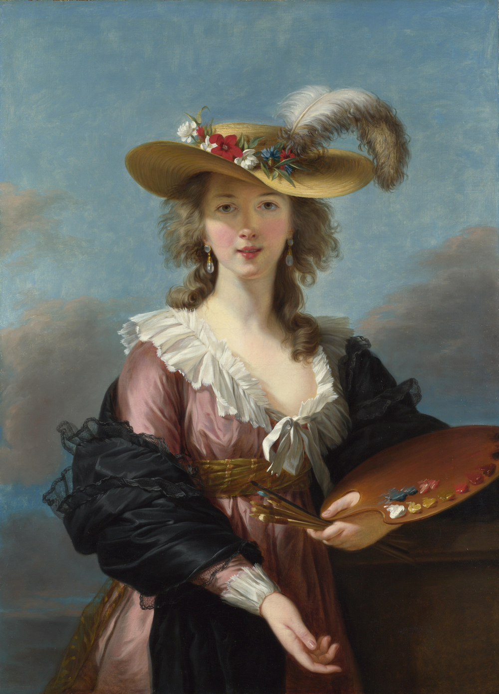 Self Portrait in a Straw Hat, 1782