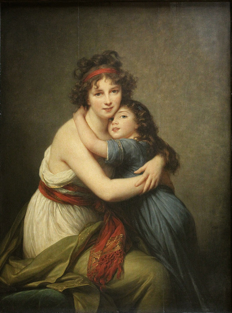 Madame Vigée Le Brun and her daughter, Jeanne Lucie Louise, 1789