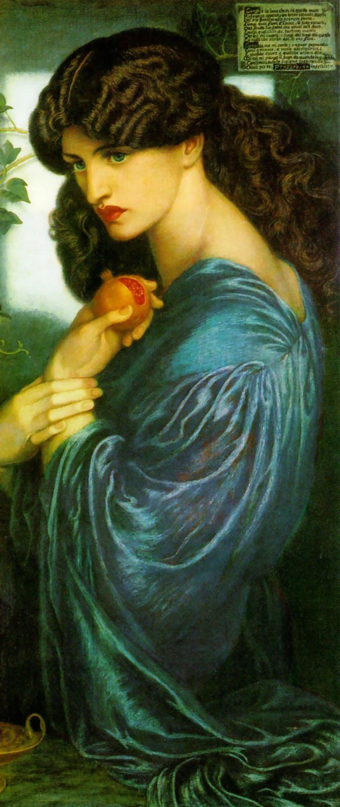 """""""Prosperpine"""" by Dante Gabriel Rossetti, 1874"""