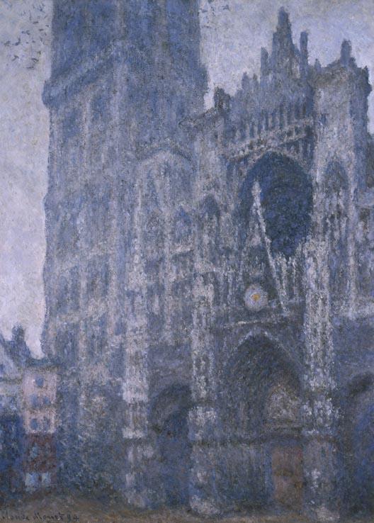 Rouen Cathedral, Facade and the Tour d'Albane. Grey Weather   ,   Musée des Beaux-Arts de Rouen   , 1894