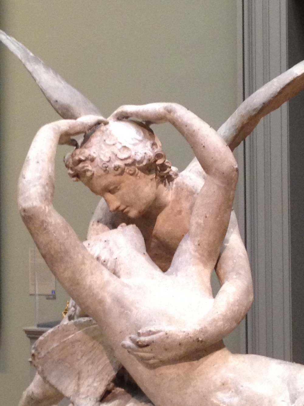 Another sculpture of Cupid and Psyche, by Antonio Canova.