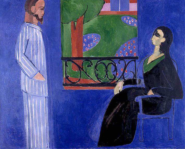 """The Conversation"" by Henri Matisse, 1909, oil on canvas, 177cmx217 cm"