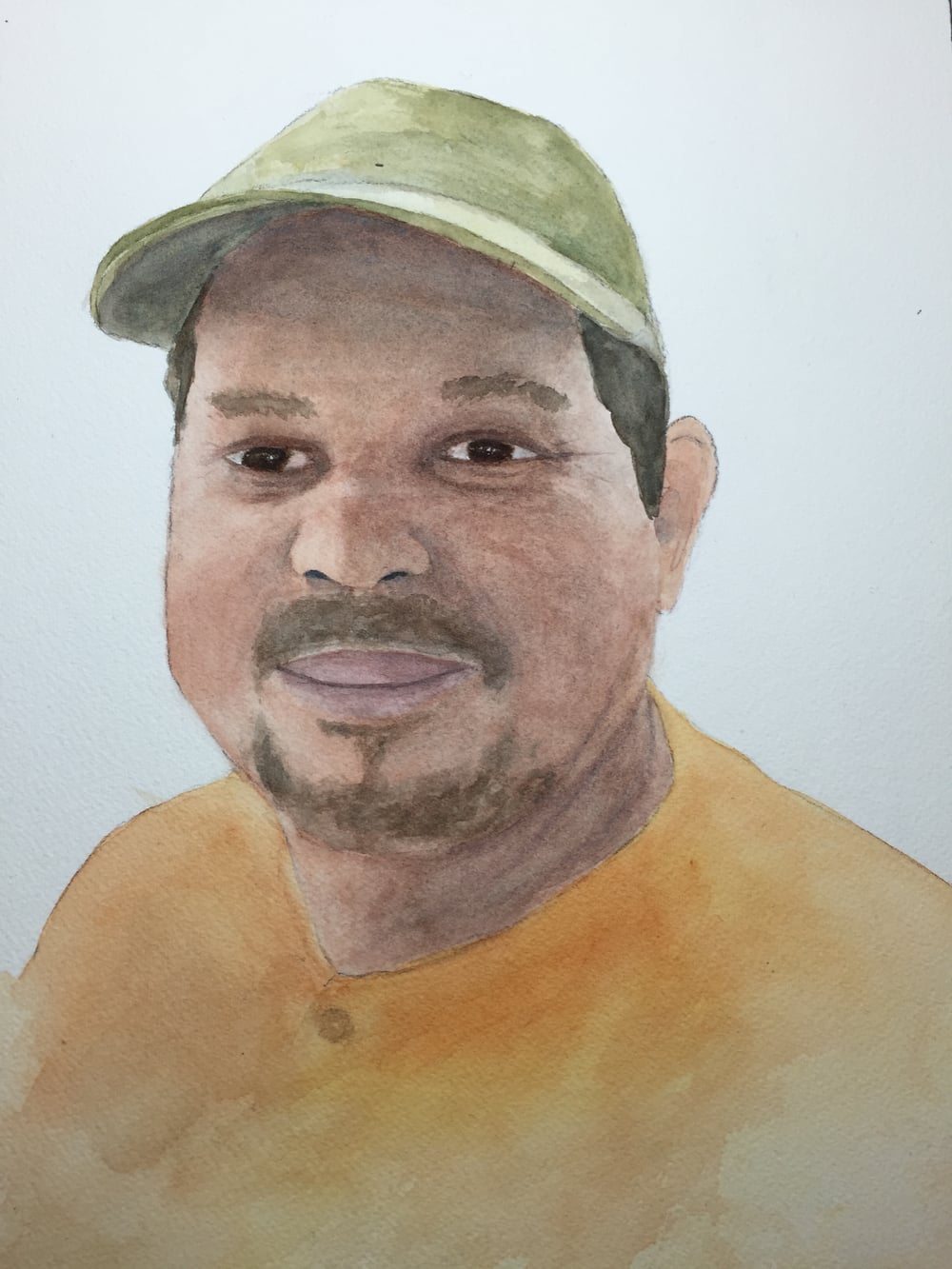 Kate's watercolor painting of Santos.