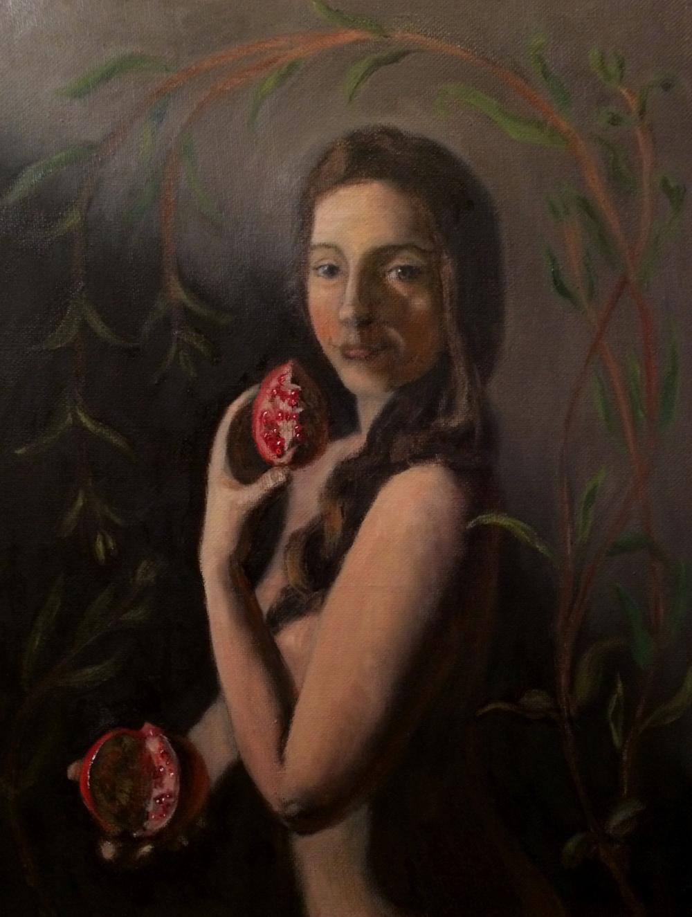 """""""Eve"""" oil on canvas, 11x14''"""