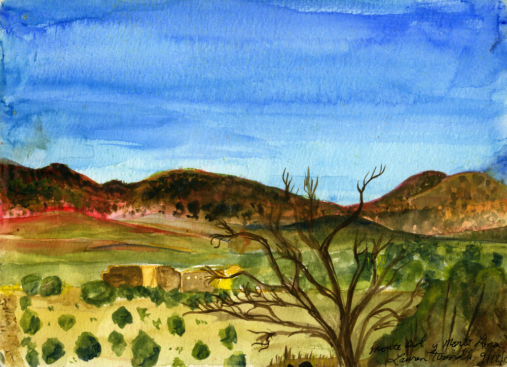 """Sept. 12, 2003 """"Monte Sol y Monte Luna in Santa Fe, NM""""  """"...an entire landscape within the confines of your skin..."""" --Georgia O'Keeffe"""