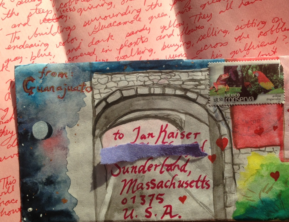 The letter I sent to Ian, my fiancé,from Guanajuato...
