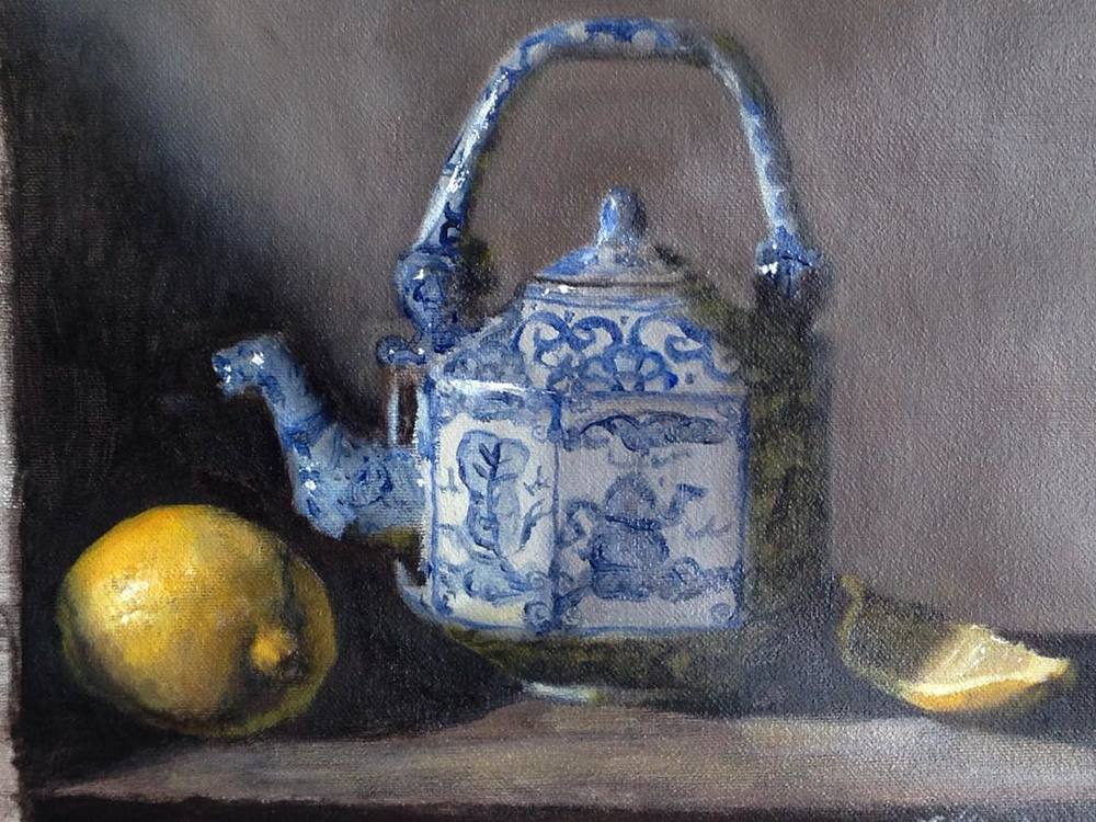 """Helena's Teapot""  oil on canvas, 8x10''"