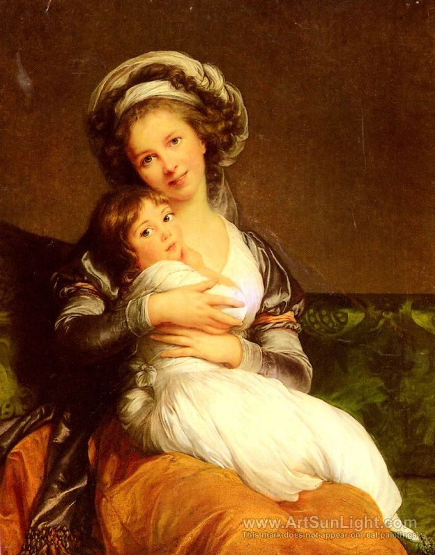 A self portrait with her daughter, Julie.