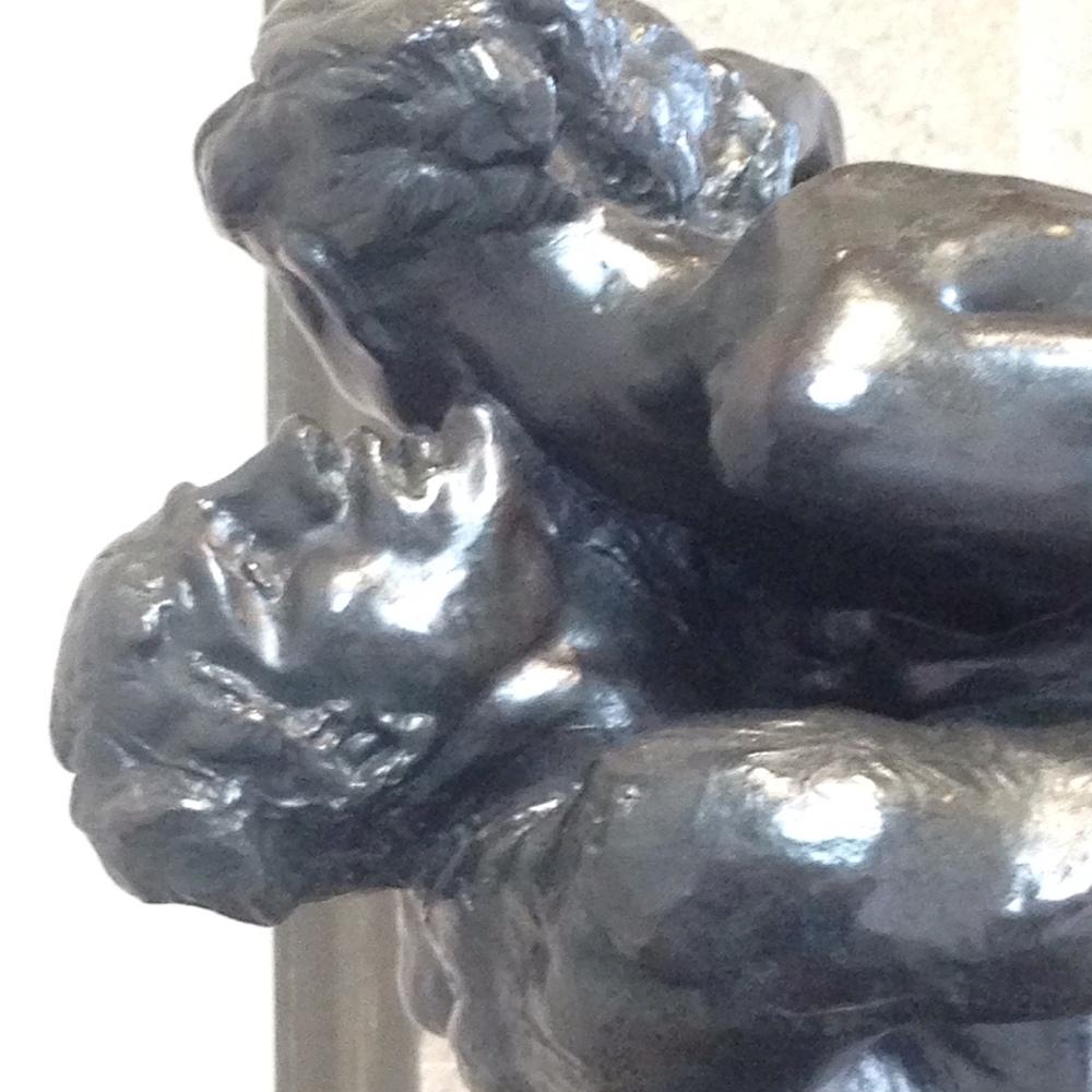 "A close-up of ""I Am Beautiful,"" a Rodin sculpture"