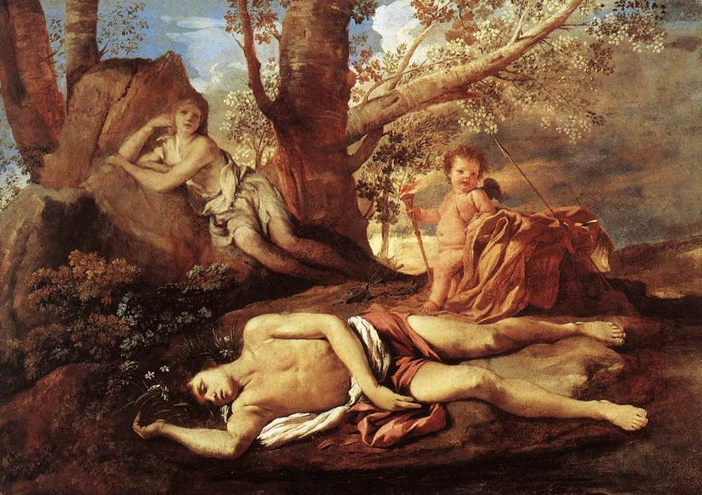 "Poussin ""Echo and Narcissus"" 1625-1630"