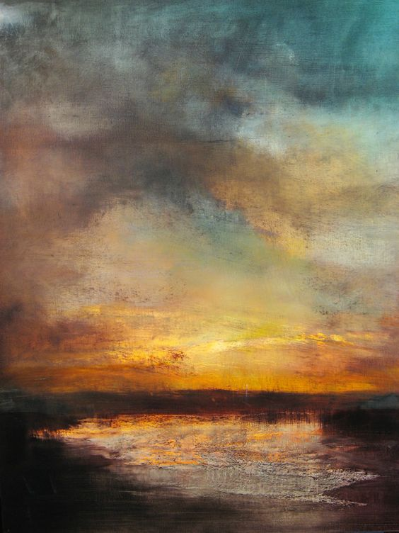 """Sunset, Reflected"" oil painting by  Maurice Sapiro"