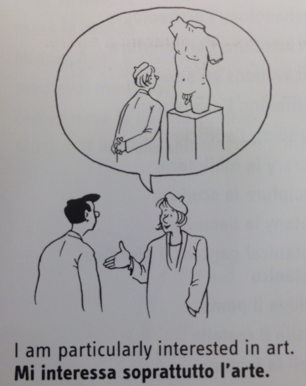 A cartoon from an Italian language book I found at Barnes and Noble.