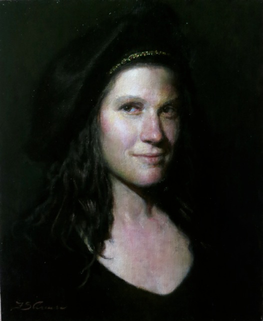 Here's a portrait Frank did of  me , not long after I started taking lessons.