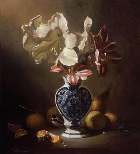 """""""Amaryllis in a Dutch Vase"""" 18x16"""""""