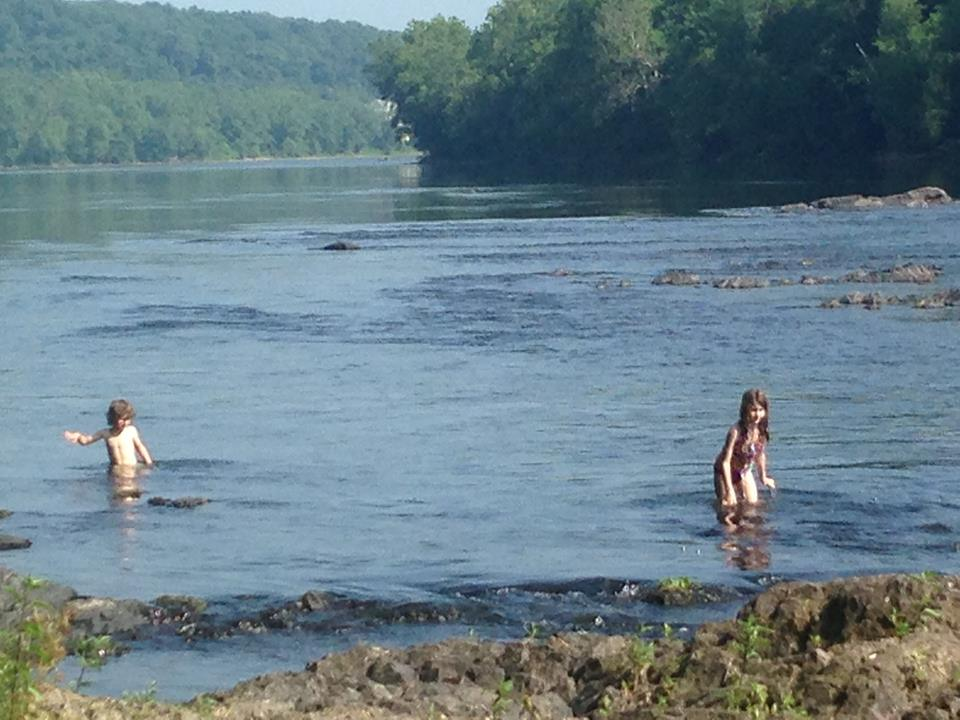 The river, just south of New Hope, PA, where we were camping.