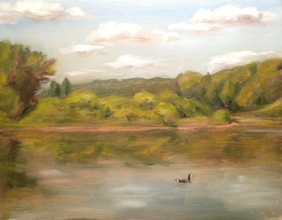 """The River at Frenchtown on Monday"" 8x10"" oil on board"