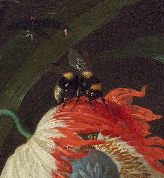 "detail from ""Vase of Flowers"" painted by Jan Davidsz. de Heem in 1660"