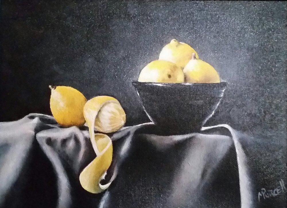 """Lemons and Light"" 10x12"" $350"