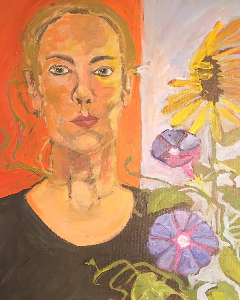 Self Portrait by Elizabeth Snelling, gouache