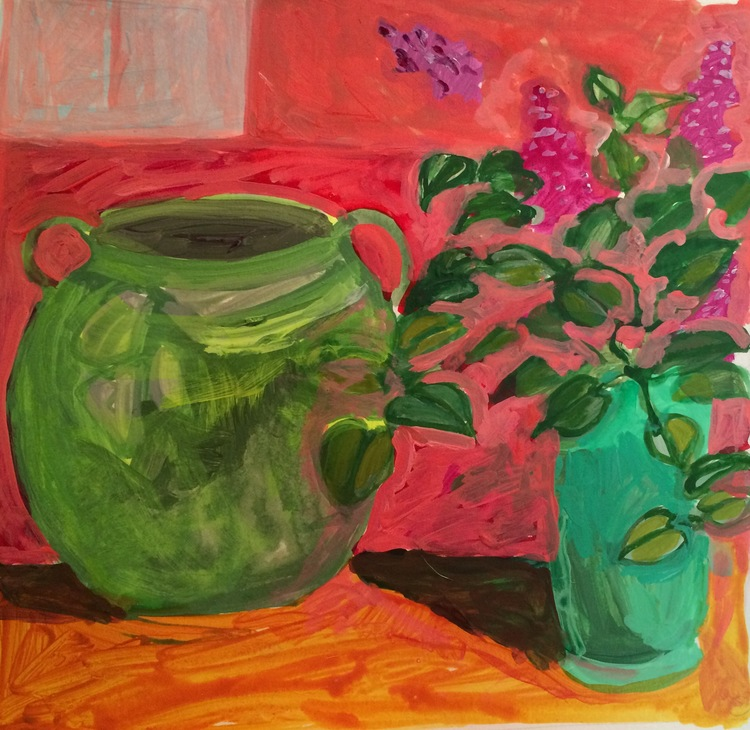 """Two Green Vases"" by Elizabeth Snelling"