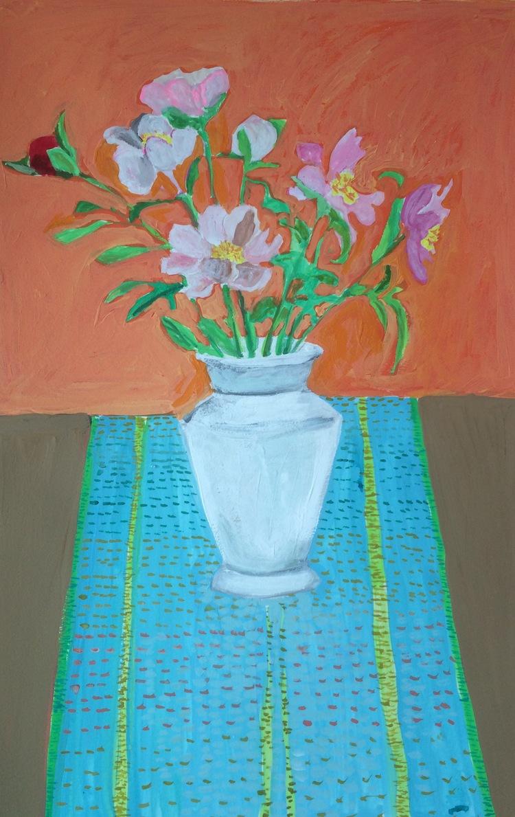 """Peonies"" by Elizabeth Snelling"