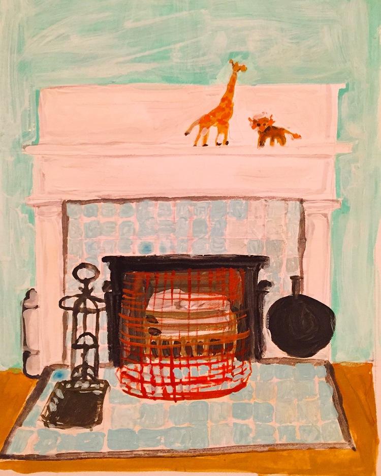"""""""Amar Fireplace"""" by Elizabeth Snelling"""
